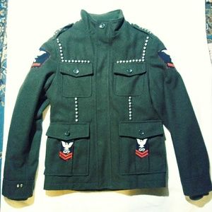 Wool military style jacket
